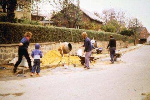 Bau am Abwasserkanal 1985